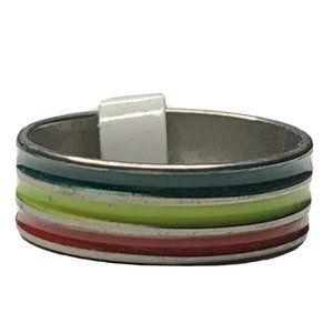 Multicolor Stripe Fashion Ring size 9